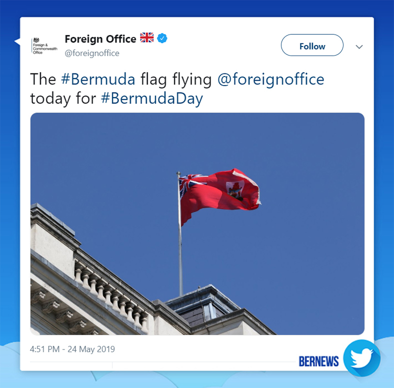 Foreign Office tweet Bermuda May 24 2019