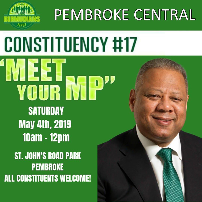 Meet Your MP Bermuda May 2019