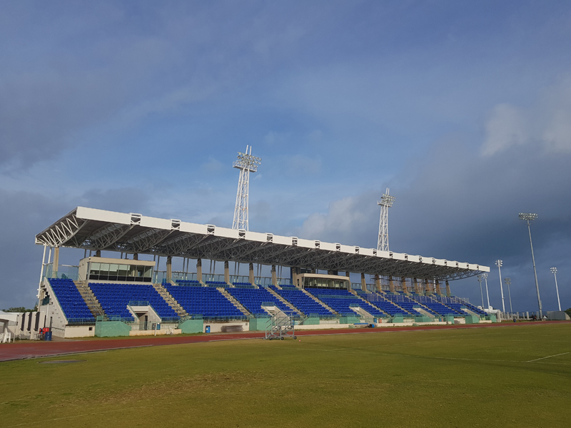 Work Continues On Nsc S Grandstand Area Bernews