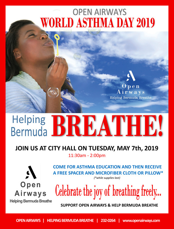 Open Airways World Asthma Day Bermuda May 2019