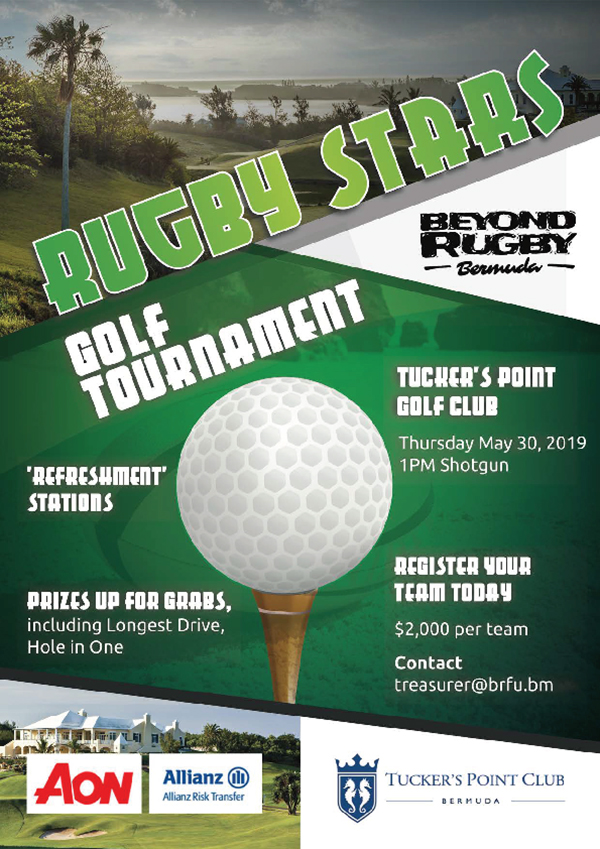 Rugby Stars Golf Tournament Bermuda May 20 2019
