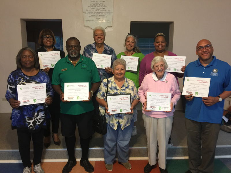 SCARS Certification for Kiwanis St George Bermuda May 2019