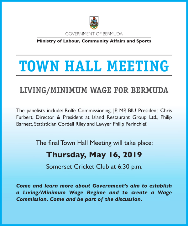 Town Hall Meeting Bermuda May 2019