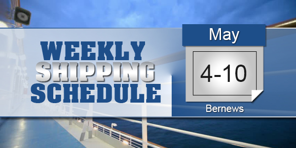 Weekly Shipping Schedule TC May 4 - 10 2019