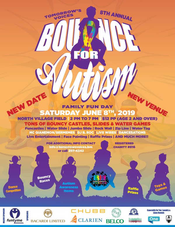 """Bounce For Autism"" Fun Day Set For June 8 2019"