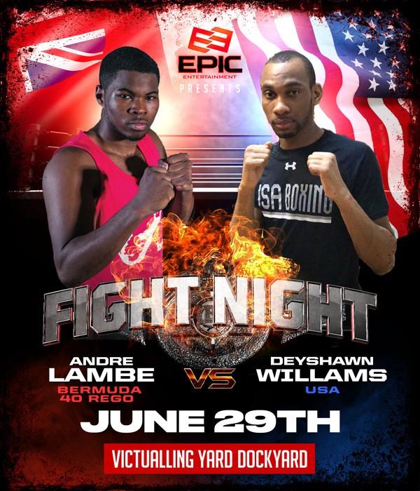 Andre Lambe vs Deyshawn Williams Bermuda June 2019