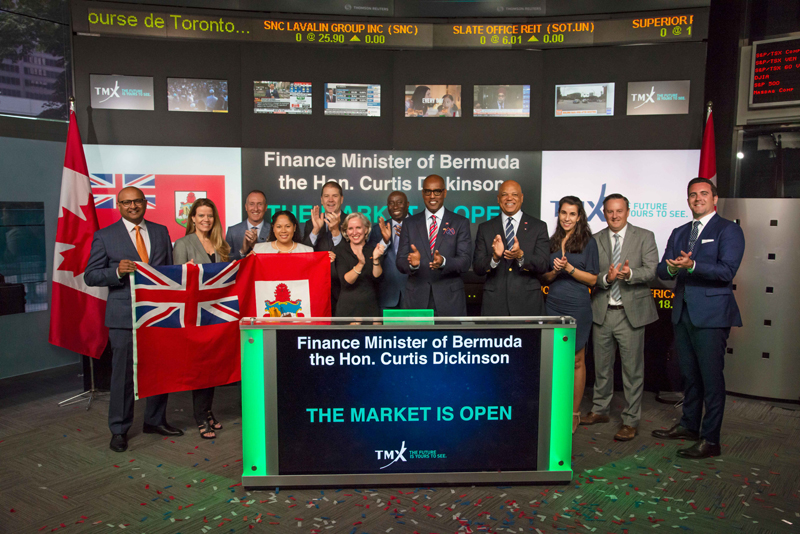 Bermuda delegation opens Toronto Stock Exchange June 2019