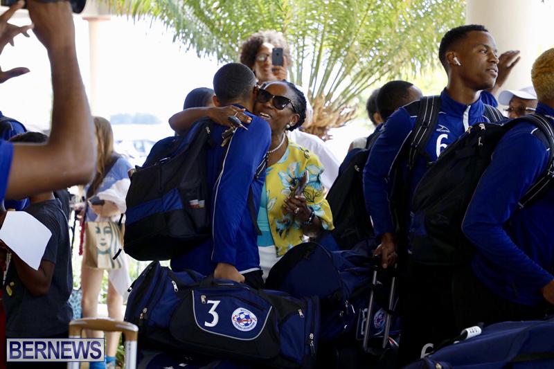 Bermuda football team return home June 25 2019 (2)