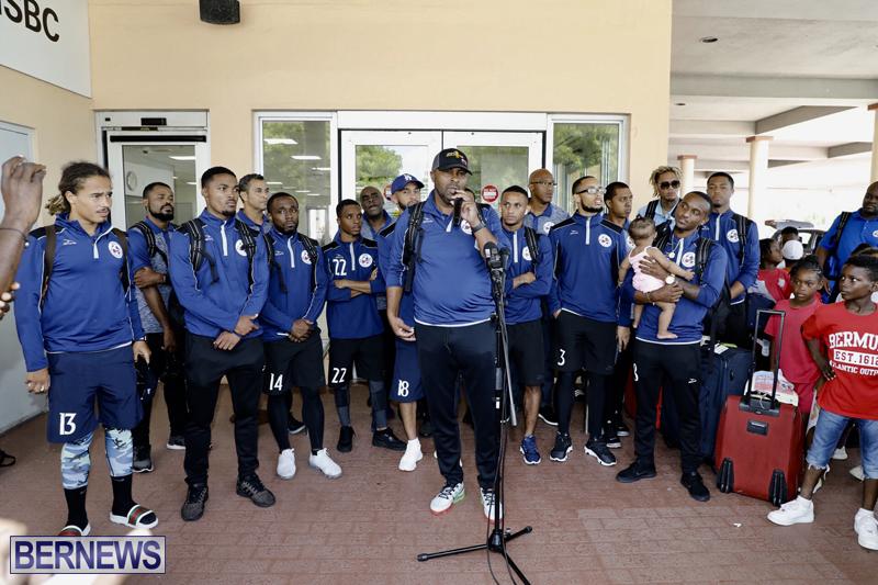 Bermuda football team return home June 25 2019 (5)