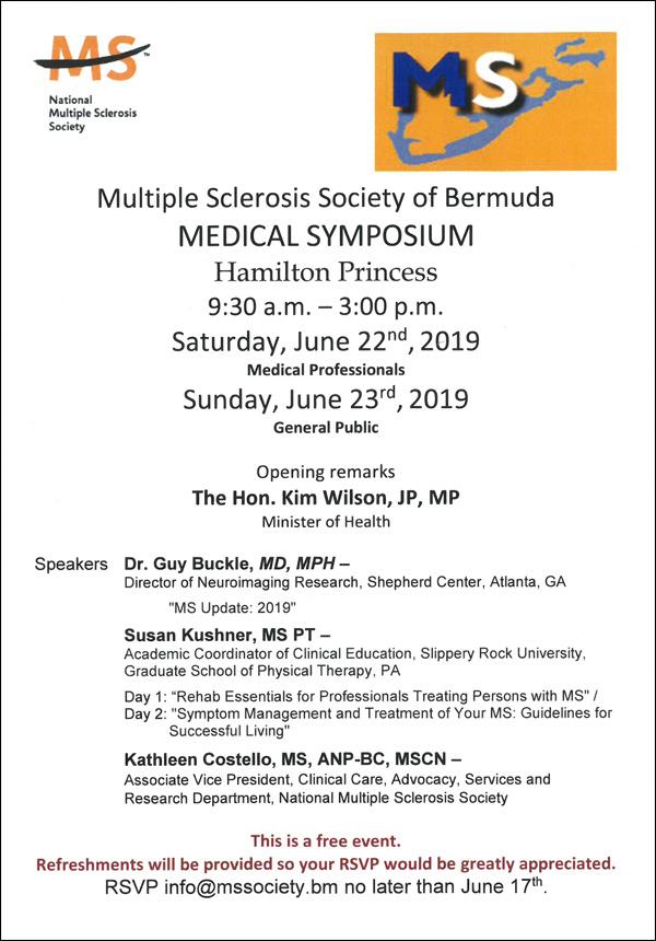 Medical Symposium Bermuda June 2019