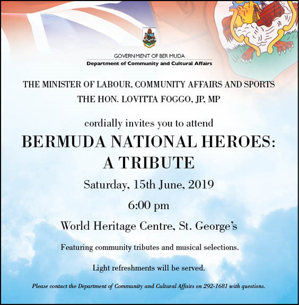 National Heroes Tribute Bermuda June 2019