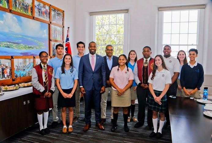 Premier Burt welcomed Bermuda's High School Leaders June 2019