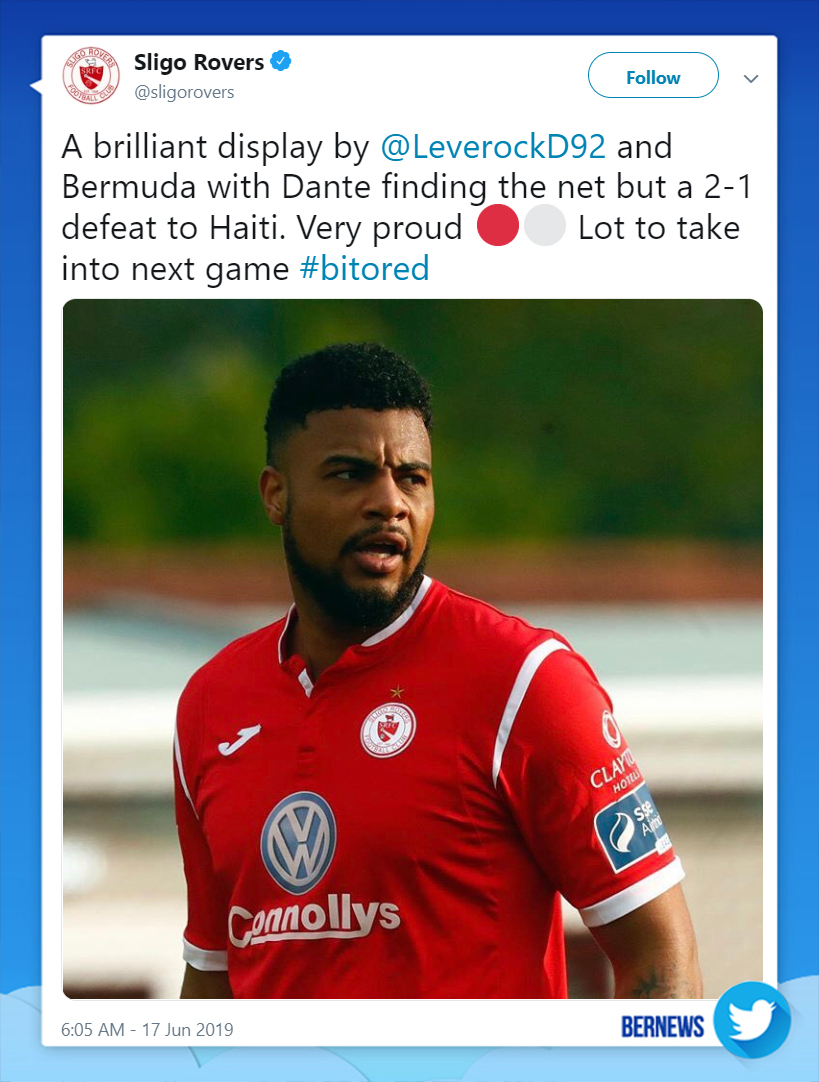 Sligo Rovers tweet June 18 2019
