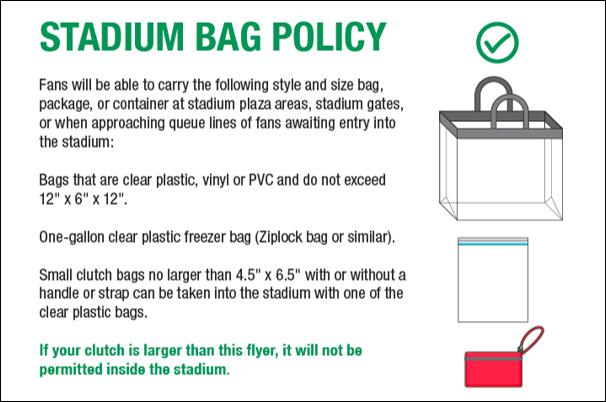 Stadium Bag Policy June 2019