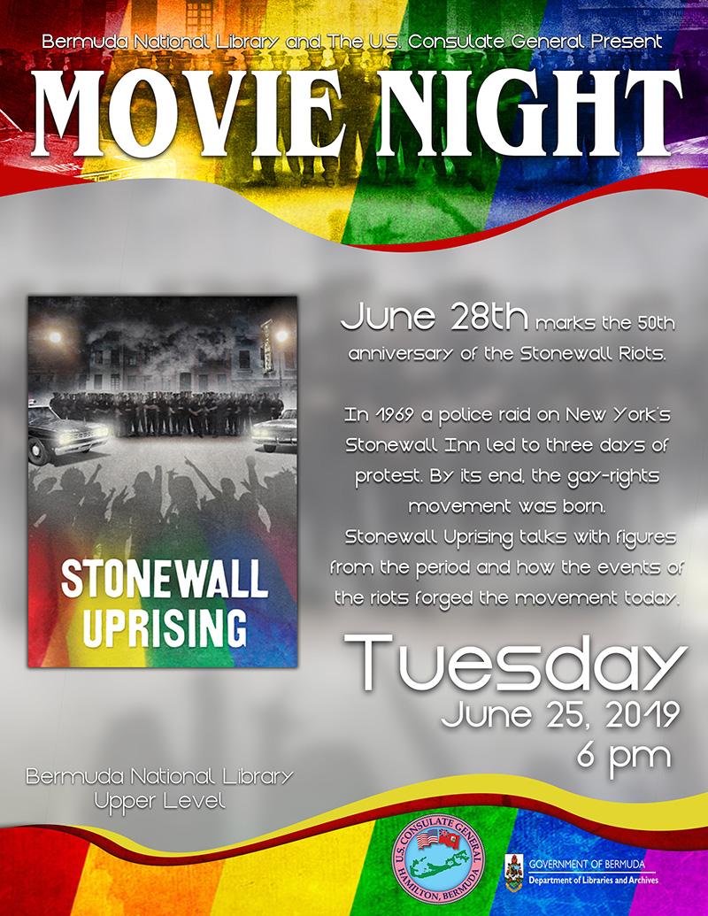 Stonewall Uprising - LGBTI Pride Month Bermuda June 2019