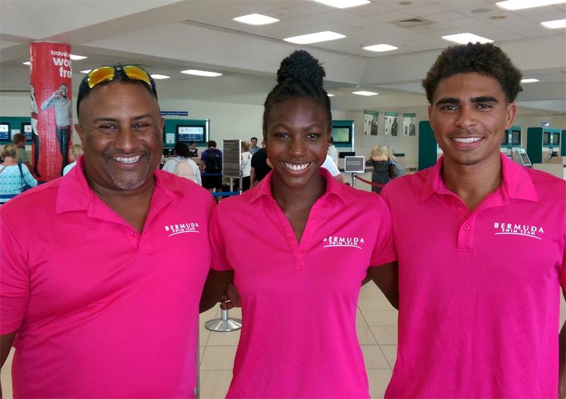 Ben Smith, Elan Daley & Jesse Washington Bermuda July 2019