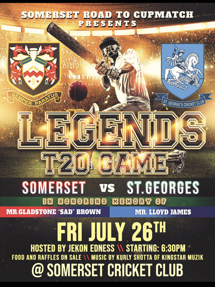 Cup Match Legends T20 game Bermuda July 2019