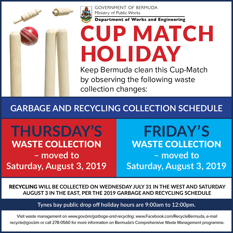 Cup Match Trash Collection Bermuda July 2019
