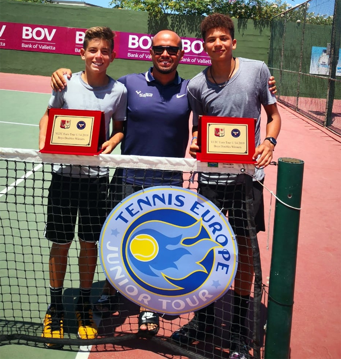 Daniel Phillips wins VLTC Euro Under 14 Doubles Title July 2019