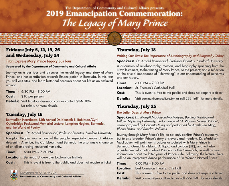Emancipation Commemoration Bermuda July 2019