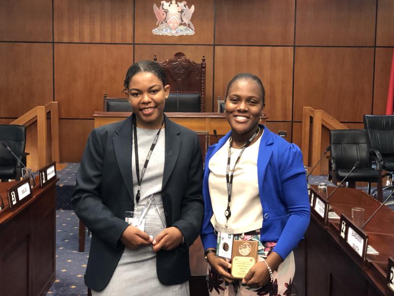 Halle Teart and Chrysda Smith Bermuda July 2019