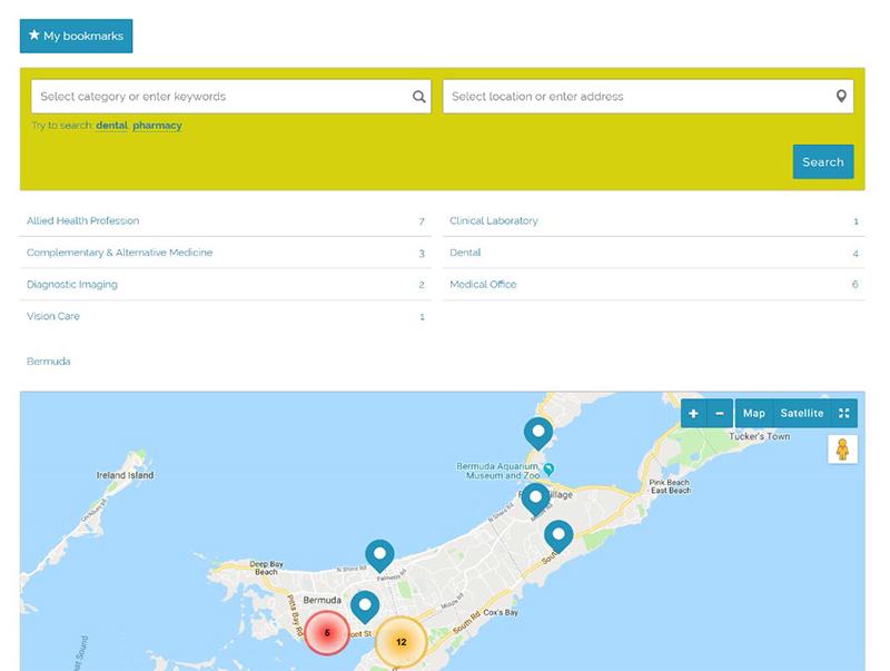Health Service Provider Register Bermuda July 2019