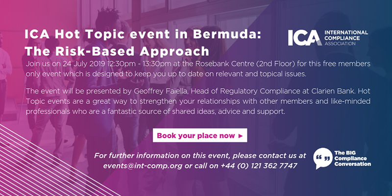 ICA Hot Topic Events Bermuda July 2019