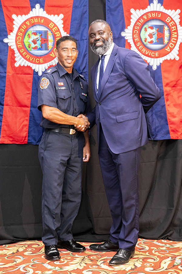 Lt Anthony Caisey and Minister Caines Bermuda July 2019