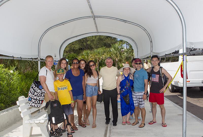 Minister DeSilva Visits Horseshoe Bay Beach Bermuda July 2019 (1)