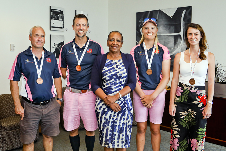 Minister Foggo With Natwest Games Team Bermuda July 2019 (1)