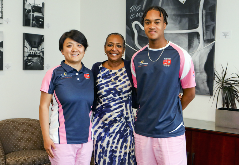 Minister Foggo With Natwest Games Team Bermuda July 2019 (4)