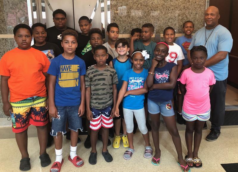 Summer campers court Bermuda June 2019 (1)