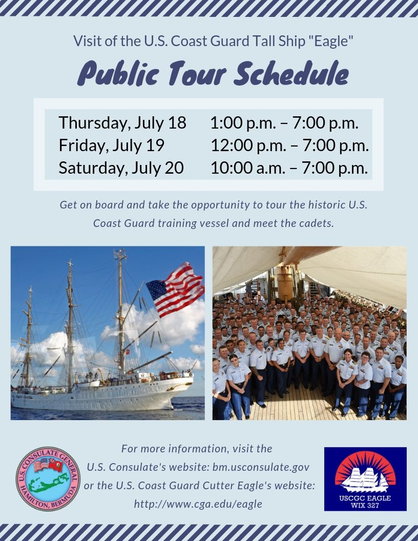 USCG Eagle Public Tour Bermuda July 12 2019