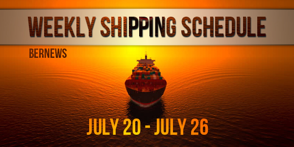 Weekly Shipping Schedule TC July 20 - 26 2019