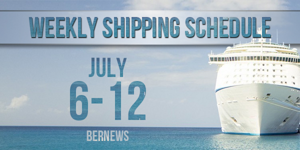 Weekly Shipping Schedule TC July 6 - 12 2019