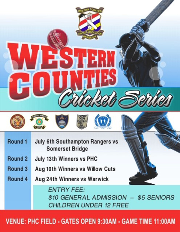 Western Counties Cricket Series Bermuda July 2019
