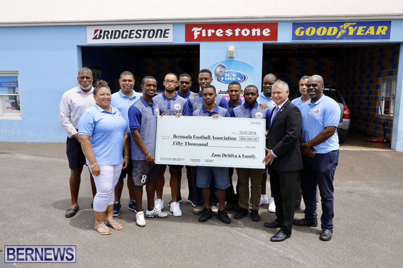 Zane DeSilva Donates $50K To Gold Cup Football Team Bermuda July 2019