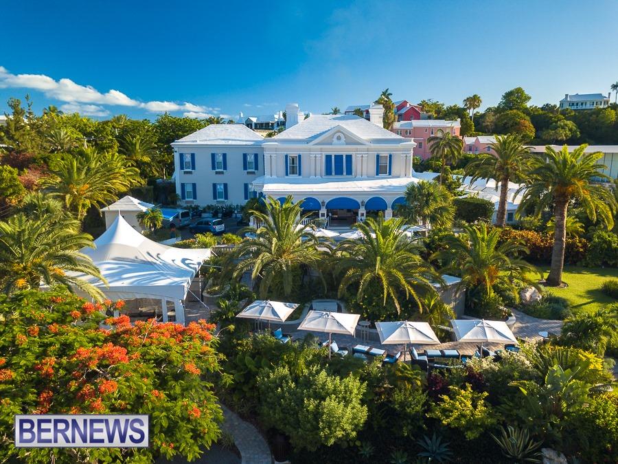 411 - The beautiful Rosedon hotel on a Bermuda summer morning.