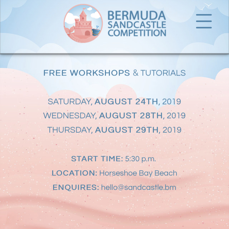 Bermuda Sandcastle Competition Aug 2019