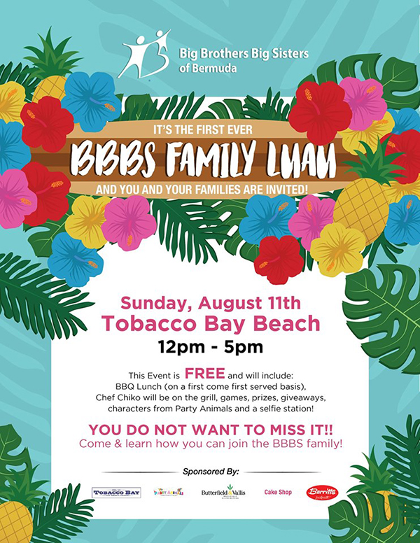 Big Brothers Big Sisters Family Luau Bermuda Aug 2019