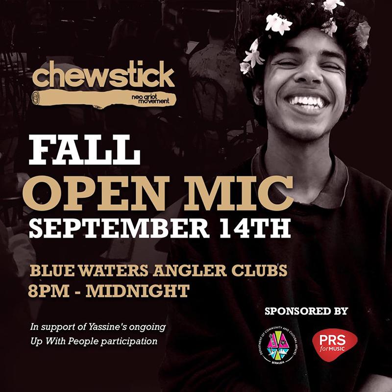 Chewstick Open Mic Session Bermuda Aug 2019