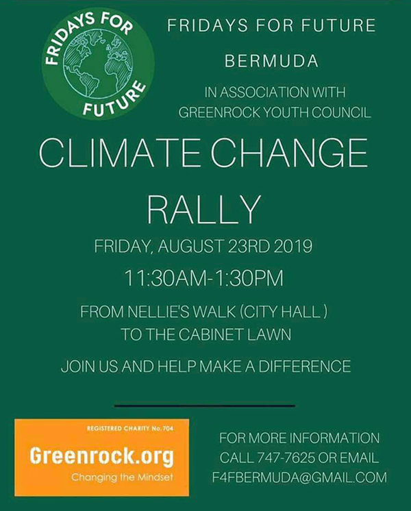 Climate Change Rally Bermuda Aug 2019