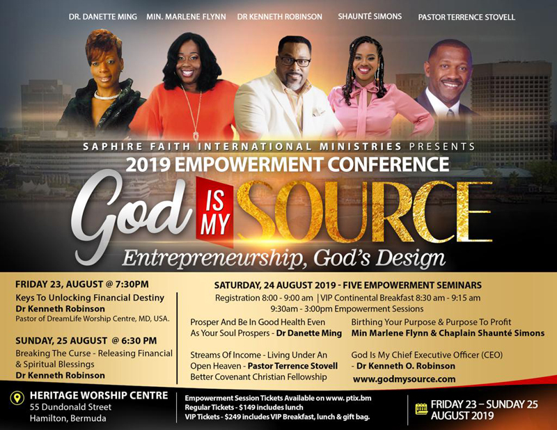 God is my Source Entrepreneurship, God's Design Bermuda Aug 2019