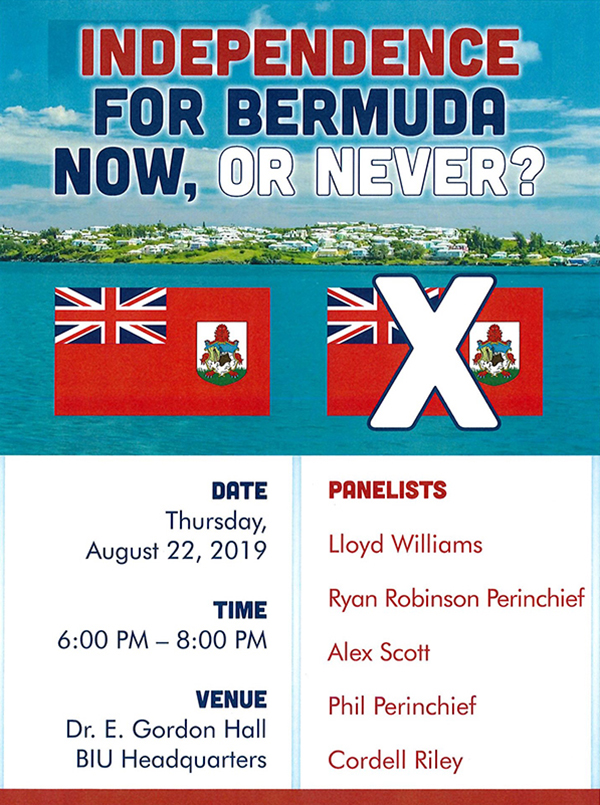 Independence For Bermuda Forum Aug 2019