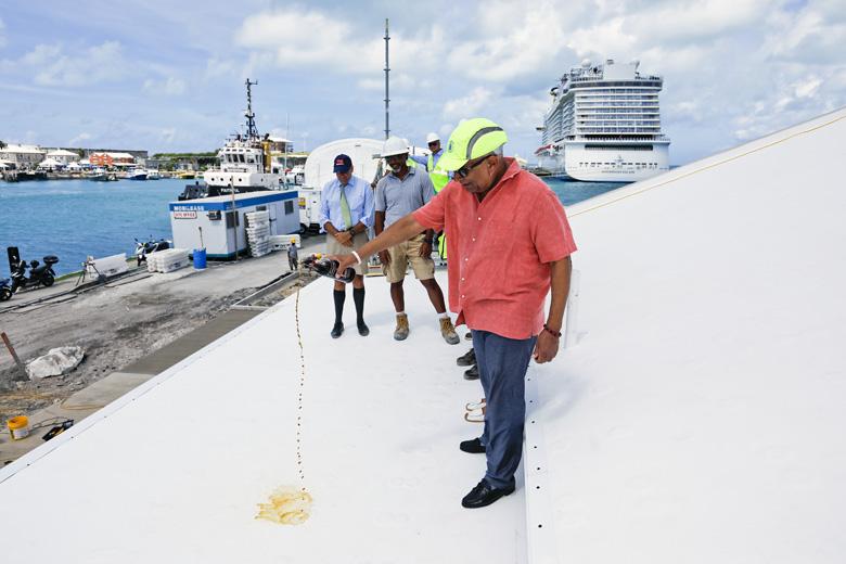 Kings Wharf Terminal Roof Wetting Bermuda Aug 2019 (2)