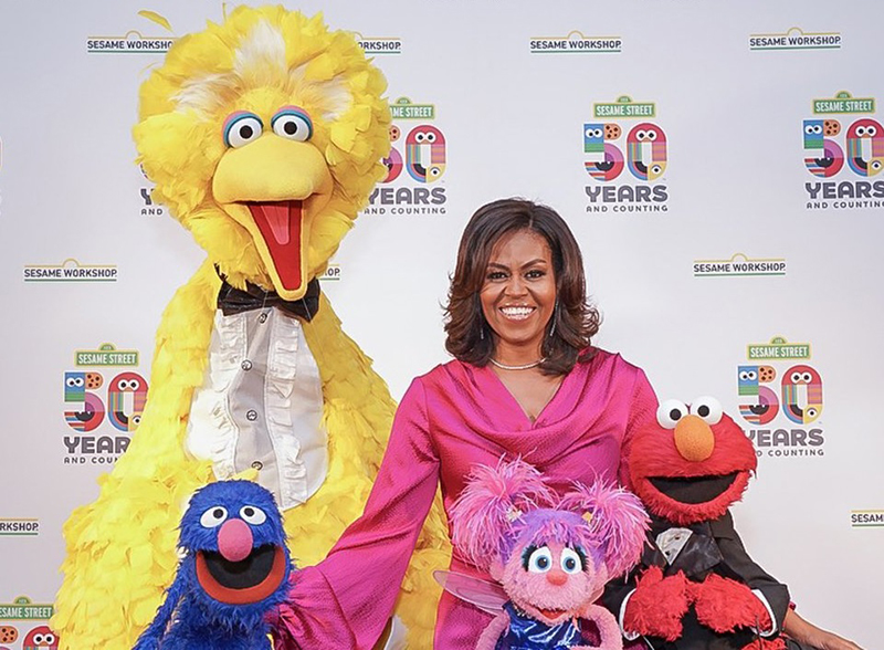 Michelle Obama With The Sesame Street Muppets Bermuda Aug 2019
