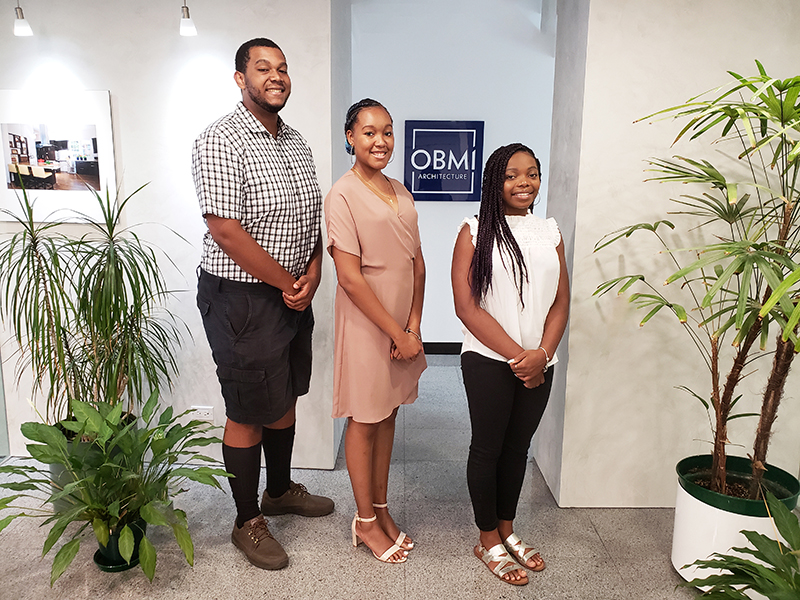 OBMI Summer interns Bermuda August 6 2019