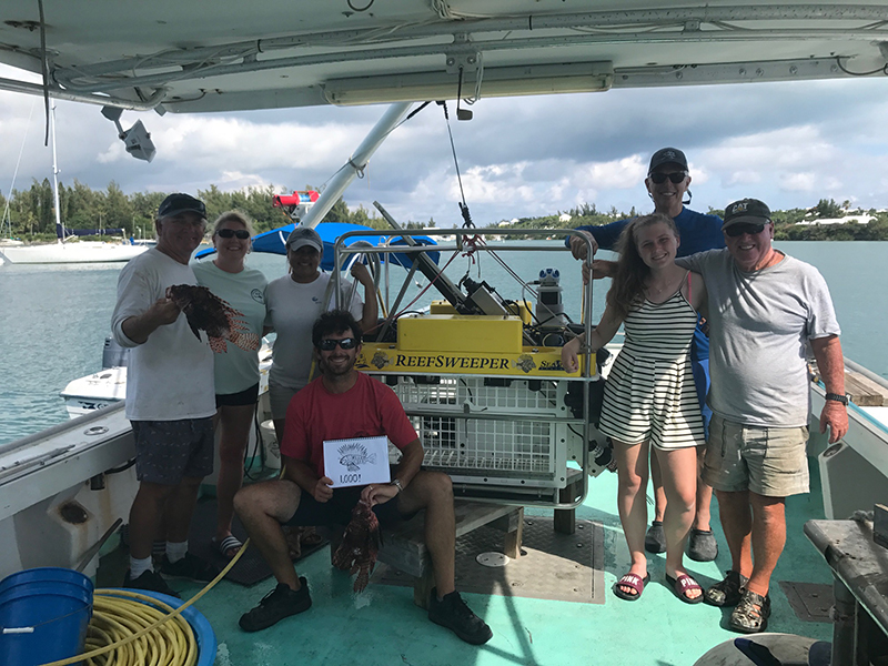 ReefSweeper Team Bermuda Aug 2019