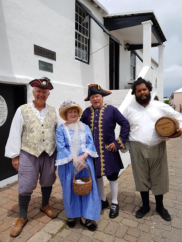 Rev War Actors Bermuda Aug 2019
