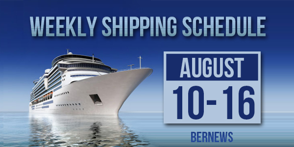 Weekly Shipping Schedule TC August 10 - 16 2019